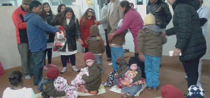 Blanket Distribution to 35 Blind Children