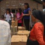 Boxes of medicines awaiting for distribution
